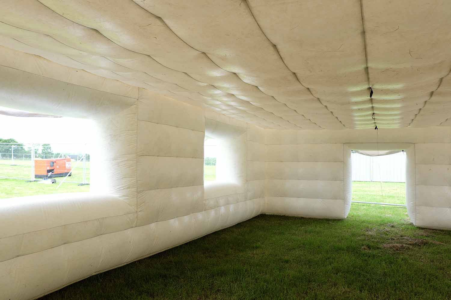Inside of inflatable house