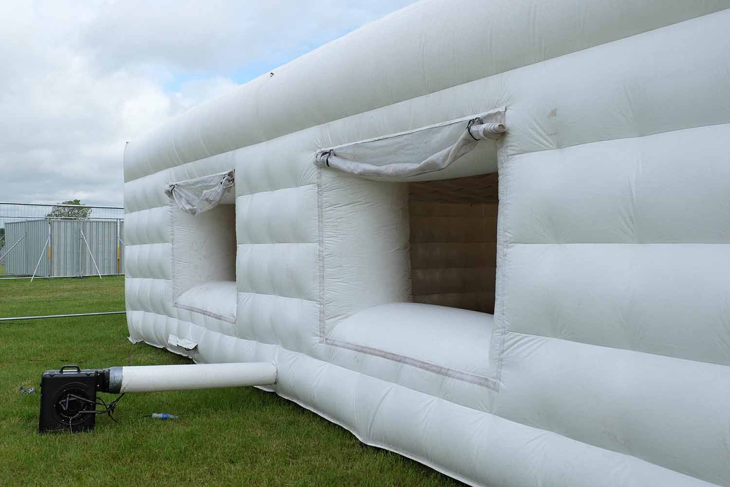 Inflatable house close up